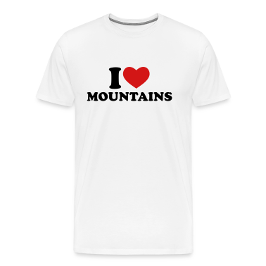 Natural I Love Mountains T-Shirts