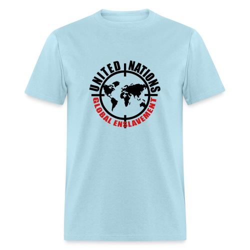 UN: Global Enslavement - Men's T-Shirt