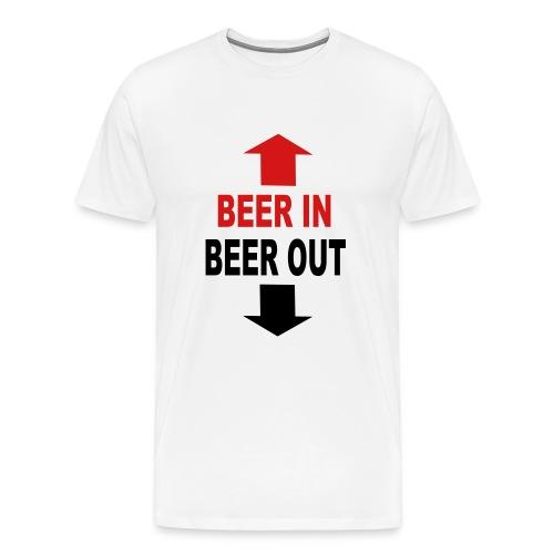 Beer In - Beer Out - Men's Premium T-Shirt