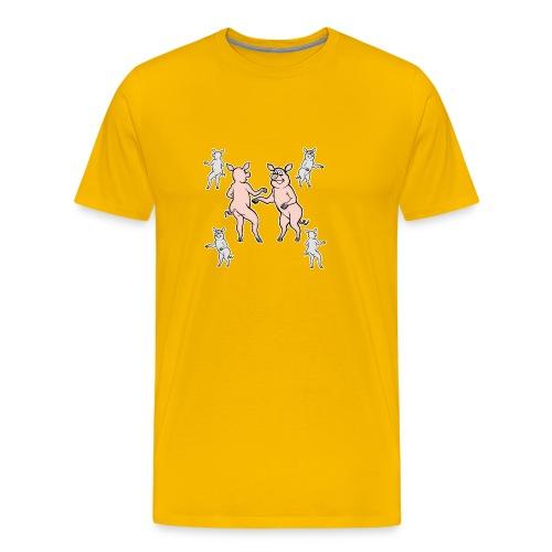 Dancing pigs - Men's Premium T-Shirt