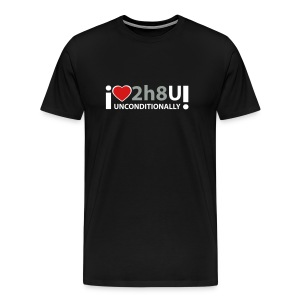 Love 2h8 U T-Shirt for Men - Men's Premium T-Shirt