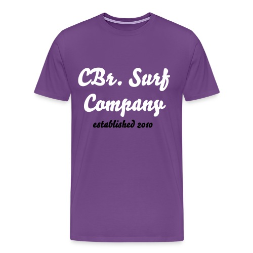 CBr. 'brand' purple - Men's Premium T-Shirt