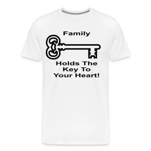 Family Holds The Key To Your Heart - Men's Premium T-Shirt