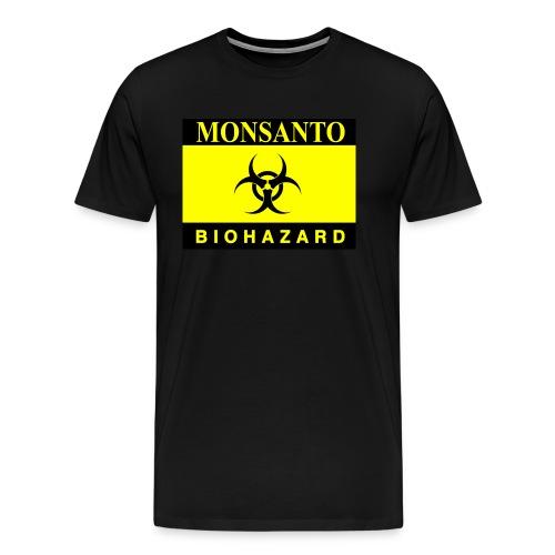 Biohazard monsanto gasmask - Men's Premium T-Shirt
