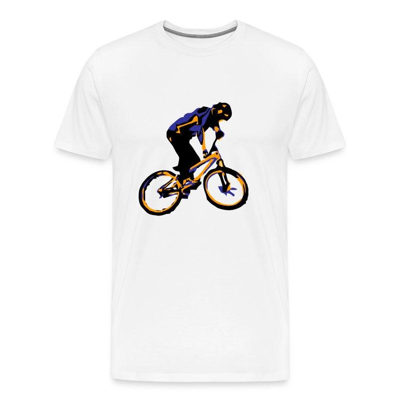 Mountain bike tee shirt dirt bike rider t shirt for Bike and cycle shoppe shirt