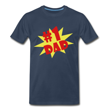 Navy #1 DAD  By VOM Design - virtualONmars T-Shirts