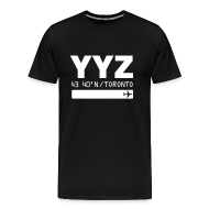 T-Shirts ~ Men's Premium T-Shirt ~ Toronto airport code Canada  YYZ black t-shirt