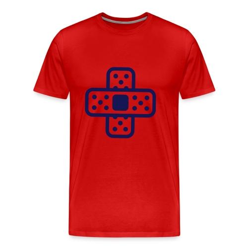 band aid logo dark blue/dark red - Men's Premium T-Shirt