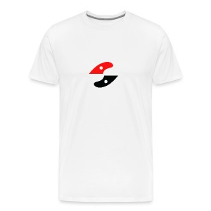 GS logo - white - Men's Premium T-Shirt
