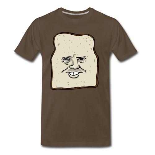 Bread Person Men's Brown T-Shirt - Men's Premium T-Shirt