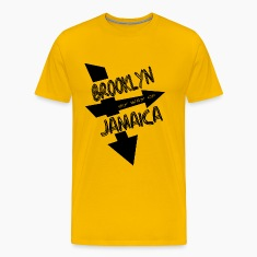 Gold Brooklyn By Way Of Jamaica 2010--DIGITAL DIRECT PRINT T-Shirts