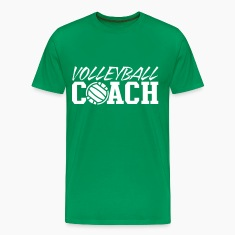 Kelly green volleyball coach T-Shirts