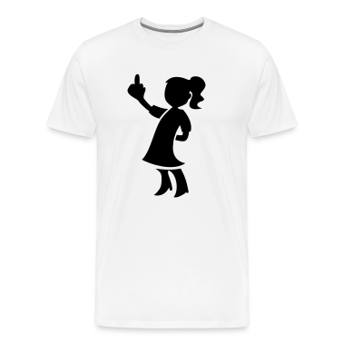 White LITTLE GIRL FLIPPING THE BIRD pulling a rude finger T-Shirts
