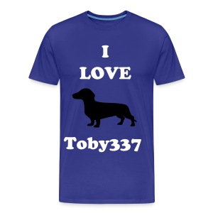 I love Toby337 GUYS - Men's Premium T-Shirt
