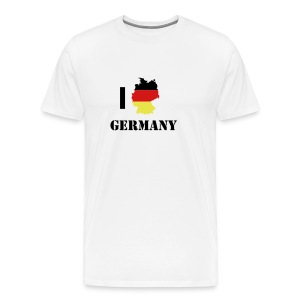 I German Tshirt White - Men's Premium T-Shirt
