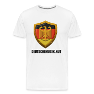 T-Shirts ~ Men's Premium T-Shirt ~ DeutscheMusik.nut Mens Tshirt White