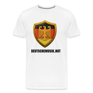 DeutscheMusik.nut Mens Tshirt White - Men's Premium T-Shirt