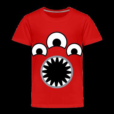 Red Disposal Monster Toddler Shirts