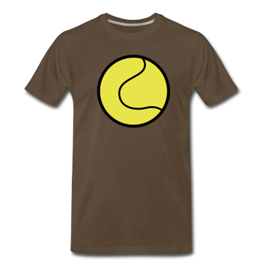 Chocolate tennis ball plain with outline T-Shirts