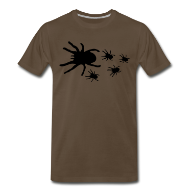Chocolate CREEPY TARANTULAS spider with its babies T-Shirts