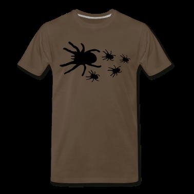 Chocolate CREEPY TARANTULAS spider with its babies T-Shirts
