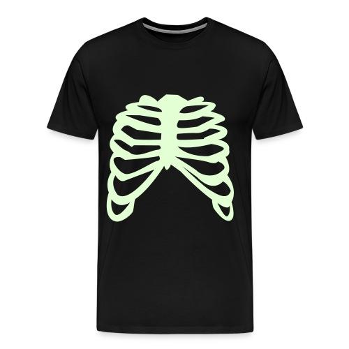 skeleton ribs man glow in dark - Men's Premium T-Shirt