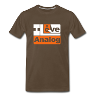 T-Shirts ~ Men's Premium T-Shirt ~ I Love Analog