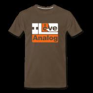 T-Shirts ~ Men's Premium T-Shirt ~ I Love Analog