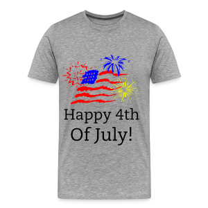Happy 4th  of July America - Men's Premium T-Shirt