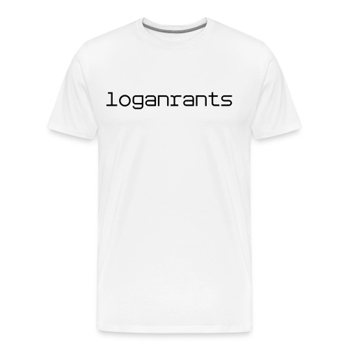 LoganRants - T-Shirt (White) - Men's Premium T-Shirt