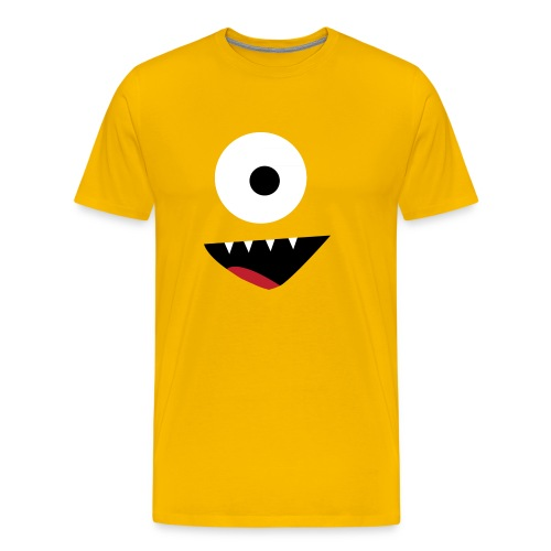 Happy Monster - Male - Men's Premium T-Shirt