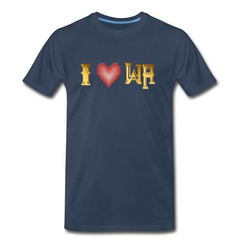 I love WASHINGTON state - Men's Premium T-Shirt