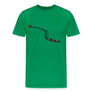 WUBT 'Love Is My True Path--DIGITAL DIRECT' Men's HW Tee, Sage - Men's Premium T-Shirt