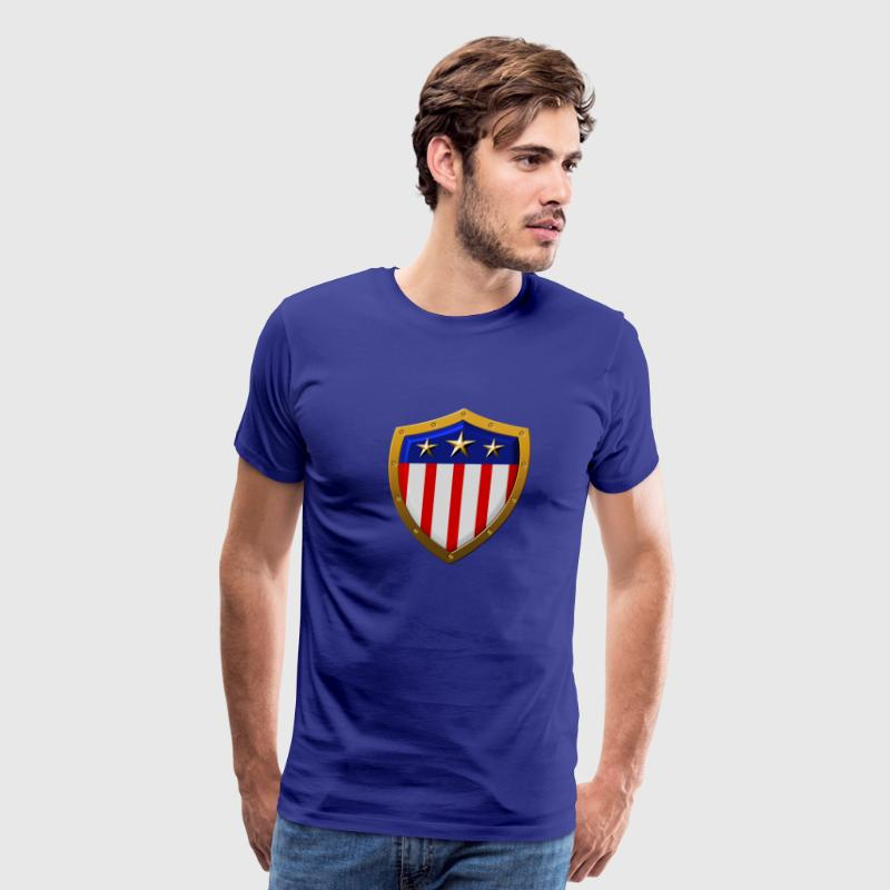 Shield of American Flag - Men's Premium T-Shirt