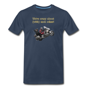 Men's Premium T Front WWheelie crazy - Men's Premium T-Shirt