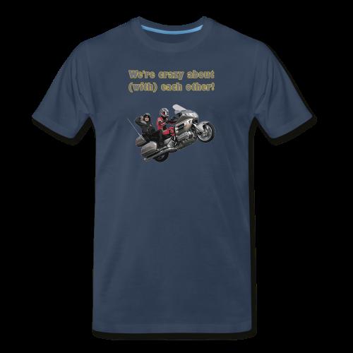 Men's Premium T Front WWheelie crazy - Men's Premium T-Shirt