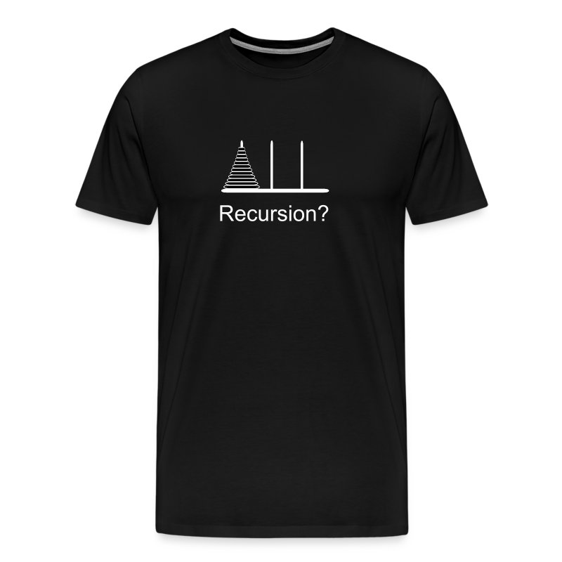 Hanoi Recursion (on Dark) - Men's Premium T-Shirt