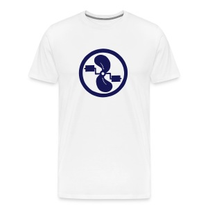 pedal power men's navy logo on white - Men's Premium T-Shirt