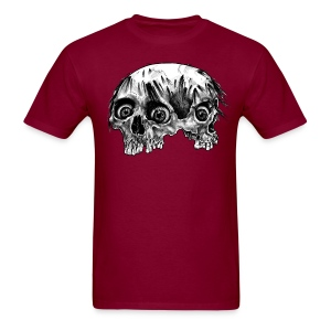 Siamese Skull - Men's T-Shirt