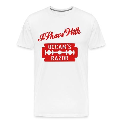 I Shave with Occam's Razor - Men's Premium T-Shirt