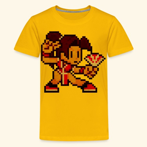 Pixelfighter ButterflyGirl (Vintageprint) - Kids' Premium T-Shirt