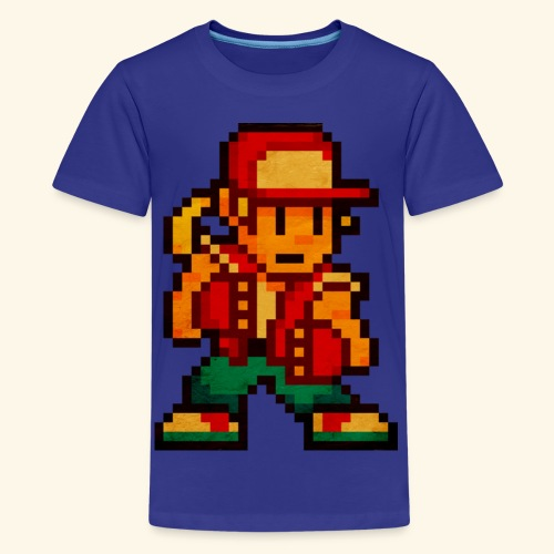 Pixelfighter HungryWolf (Vintageprint) - Kids' Premium T-Shirt