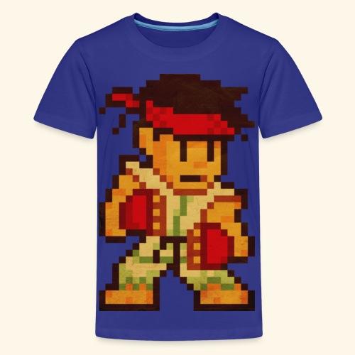 Pixelfighter Karateka (Vintageprint) - Kids' Premium T-Shirt