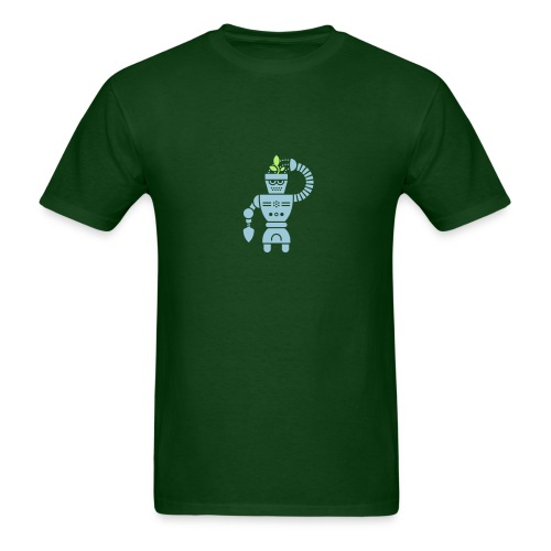 GrowBot [Lt Blu on Dk Grn] - Men's T-Shirt