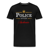 T-Shirts ~ Men's Premium T-Shirt ~ Authentic Police Officer