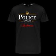 T-Shirts ~ Men's Premium T-Shirt ~ Authentic Police Officer
