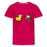 Kids' Shirts ~ Kids' Premium T-Shirt ~ Chicken Talks to Duck! Kids' Tee