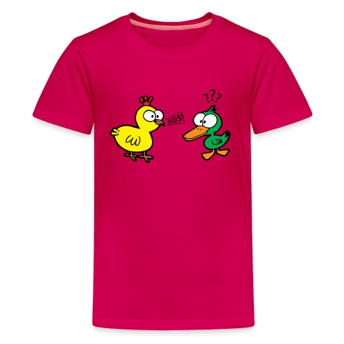 Chicken Talks to Duck! Kids' Tee - Kids' Premium T-Shirt