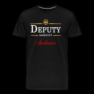 T-Shirts ~ Men's Premium T-Shirt ~ Authentic Deputy Sheriff