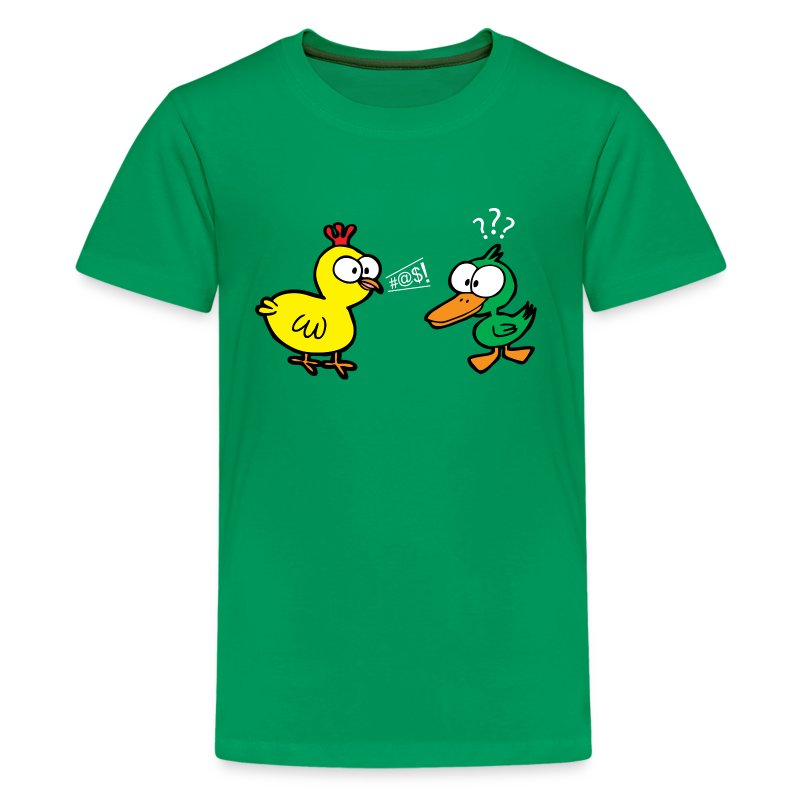 Chicken Talks to Duck! Kids' Tee - Kids' Premium T-Shirt